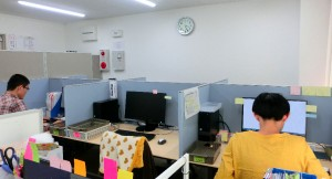 繁忙期のパソコンチーム