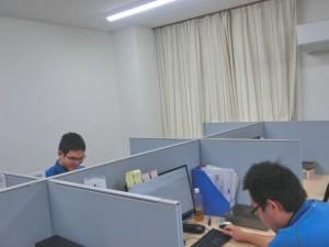 作業風景(9.22清水さん側)