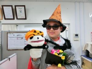 ハロウィンパンダと佐久間さん